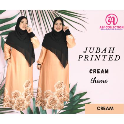 JUBAH PRINTED