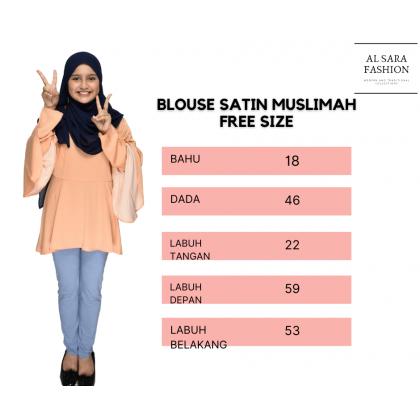 BLOUSE SATIN MUSLIMAH