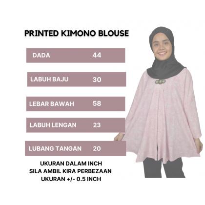 KIMONO BLOUSE MUSLIMAH PRINTED
