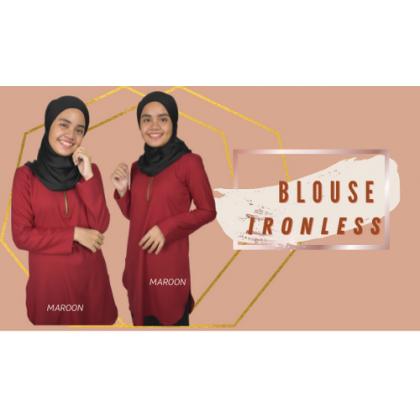 Blouse Muslimah Modern Ironless Maroon