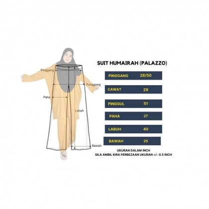 SUIT HUMAIRAH VACCINE FRIENDLY (TOP&PALAZZO)
